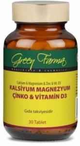 Green Farma Kalsiyum Magnezyum Cinko_Vitamin D
